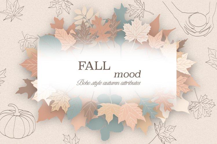Fall / Leaves / Pumpkin / Vector / Clip art / Minimalist art example image 1