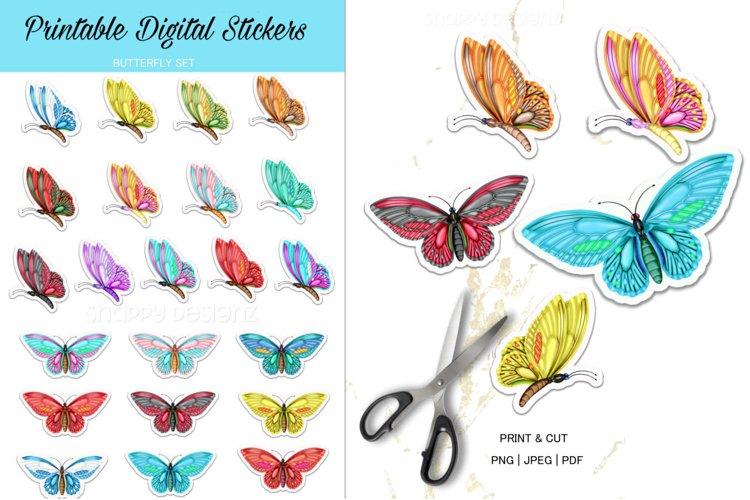 Printable Butterfly Sticker Sheet Set