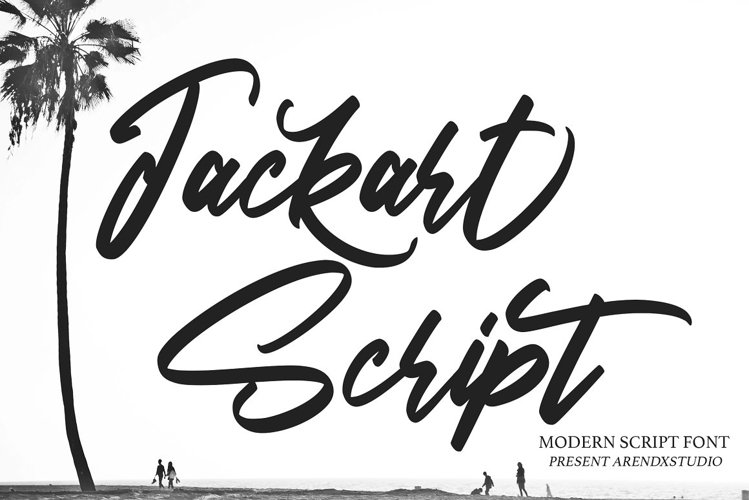 Jackart - Modern Script Font example image 1