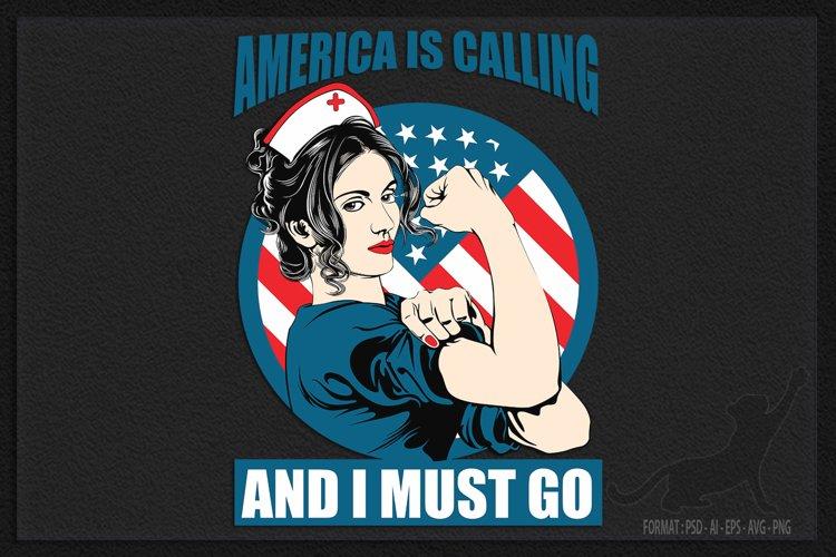 America calling nurse example image 1