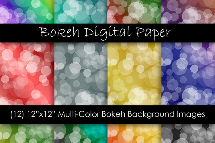 Bokeh Digital Papers - Ombre Bokeh Backgrounds example image 1