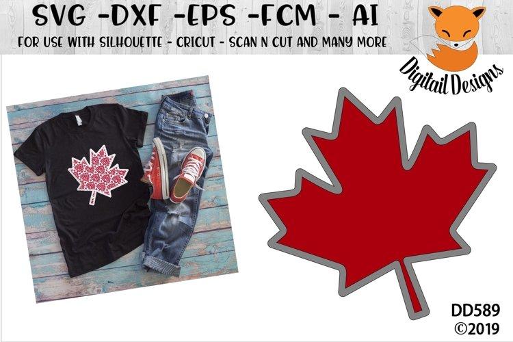 Faux Maple Leaf Applique Canada SVG example image 1