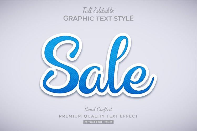Sale 3d Text Style Effect Premium Vector example image 1