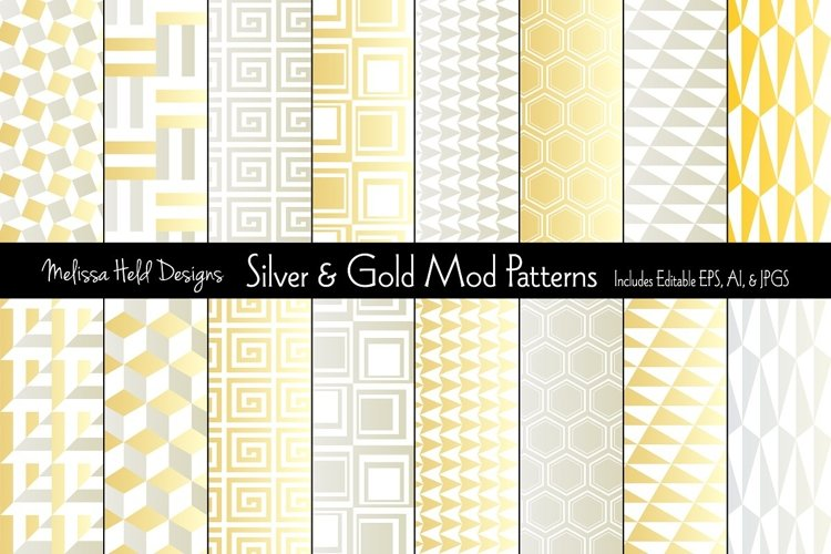 Silver & Gold Mod Patterns example image 1