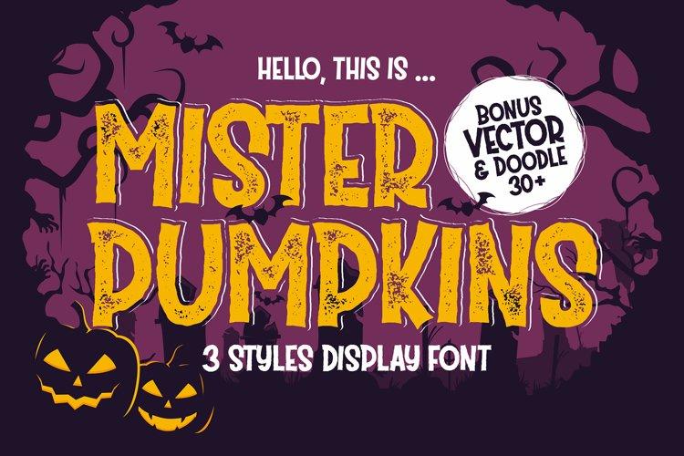 Mister Pumpkins | Bonus Vector example image 1