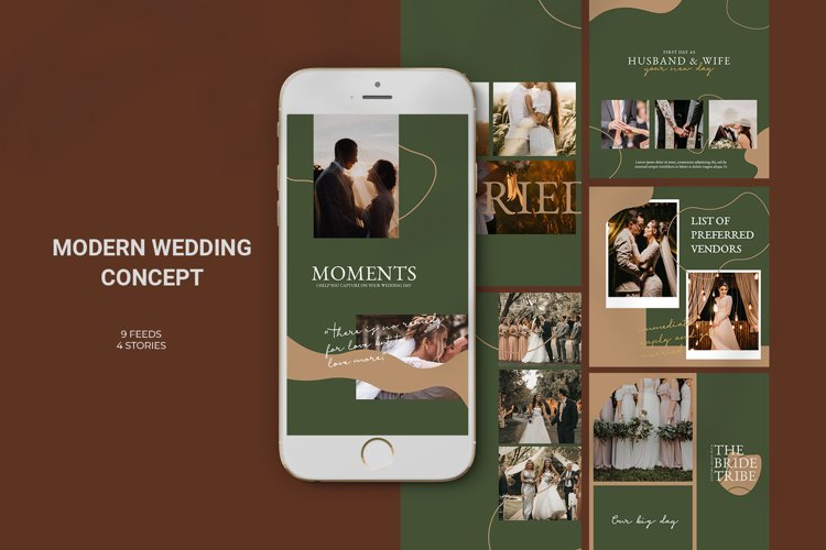 Modern Wedding Concept Instagram example image 1