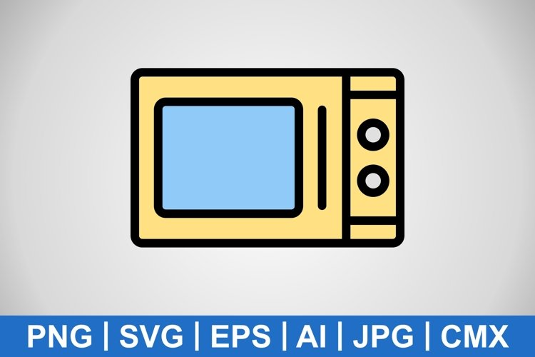 Vector Microwave Oven Icon example image 1