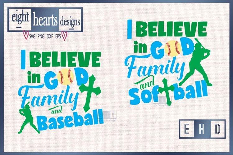 Download I Believe In God Family Baseball Softball Svg Eps Dxf 189599 Svgs Design Bundles