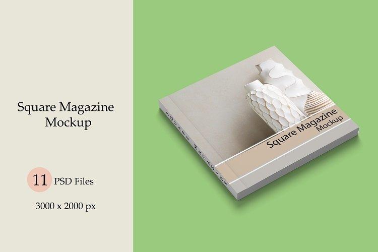Square Magazine Mockup example image 1