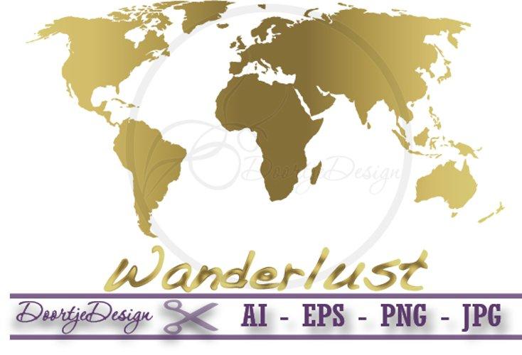 World map gold Vector