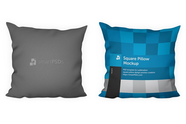 Square Pillow Design Preview Mockup example image 1