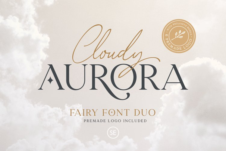 Cloudy Aurora - Font Duo example image 1