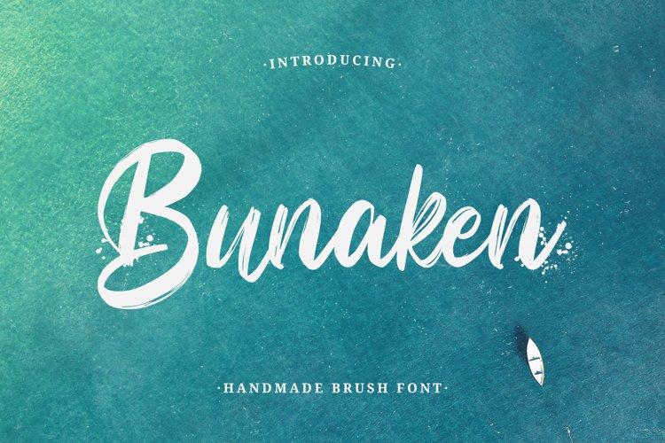 Bunaken - Handmade Brush Font example image 1