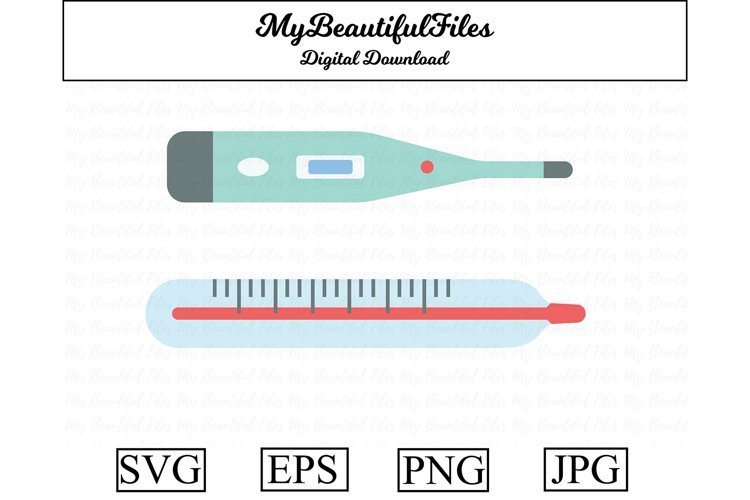 thermometer SVG - Cute medical SVG, EPS, PNG and JPG