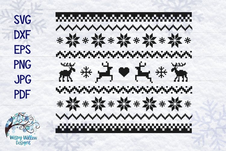 Christmas Sweater SVG | Ugly Christmas Sweater Pattern SVG example image 1
