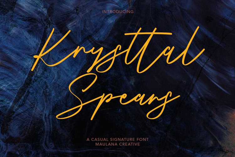 Krysttal Spears Casual Signature Font example image 1