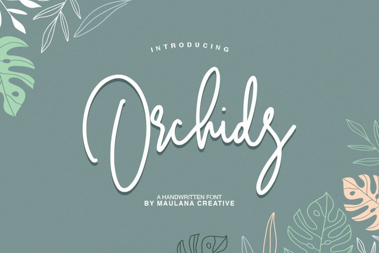 Orchids - Handwritten Font example image 1