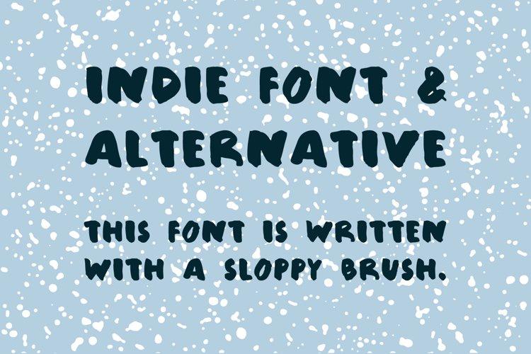 Sloppy brush font