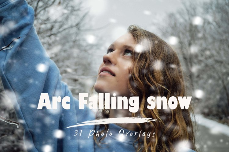 31 Arc Fall Snow, realistic winter snowflakes example image 1