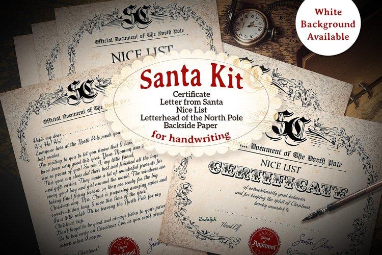 Victorian Santa Kit - Printable - for Handwriting