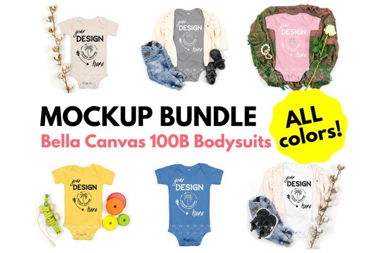 Bella Canvas 100B Baby Bodysuit Mockup Bundle - Baby Mock Up example image 1