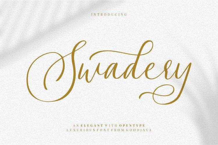 Swadery - Luxury Font example image 1