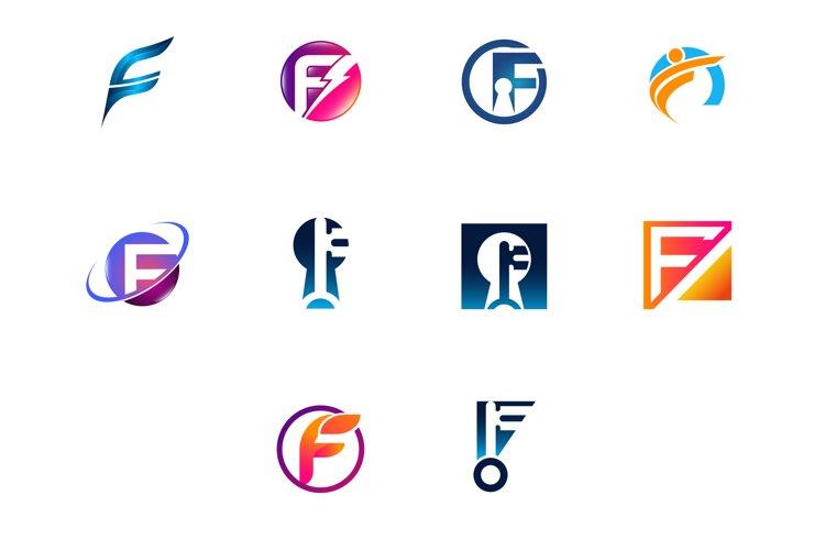Modern and elegant business logos set example image 1