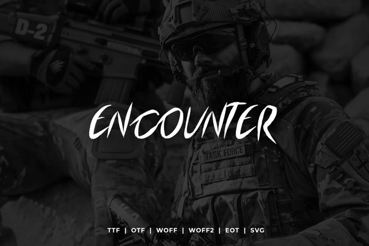 Encounter Display Typeface WebFonts example image 1