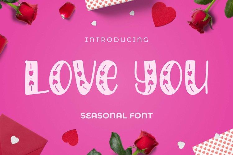 Web Font LOVEYOU Font example image 1