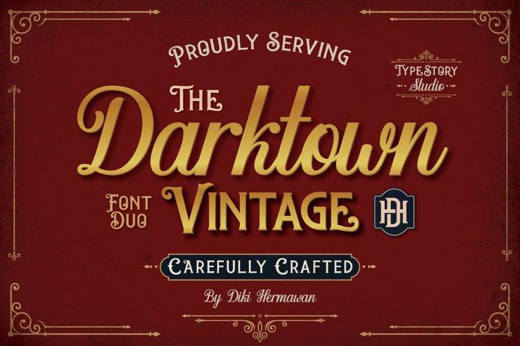 Darktown Font Duo example image 1