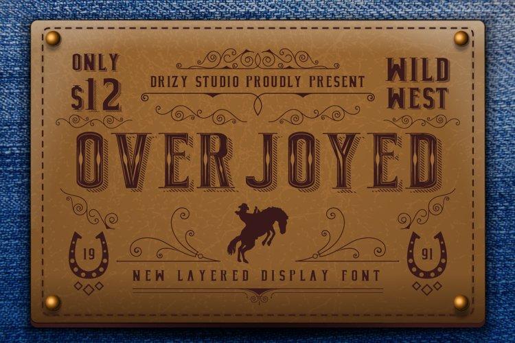 Overjoyed Layered Typeface example image 1