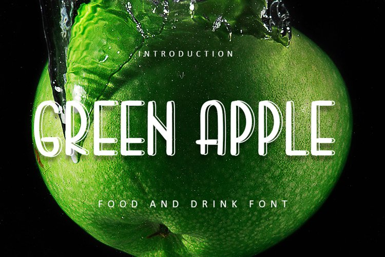 Green Apple | Food and Drink Font example image 1