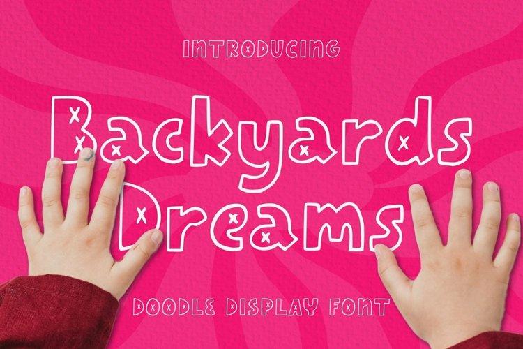 Web Font Backyards Dreams Font example image 1