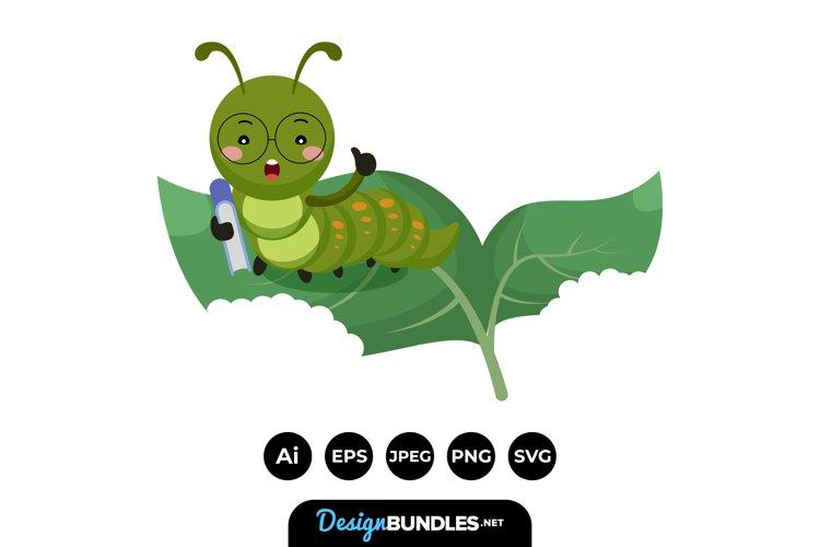 Clever Caterpillar Teacher Illustrations