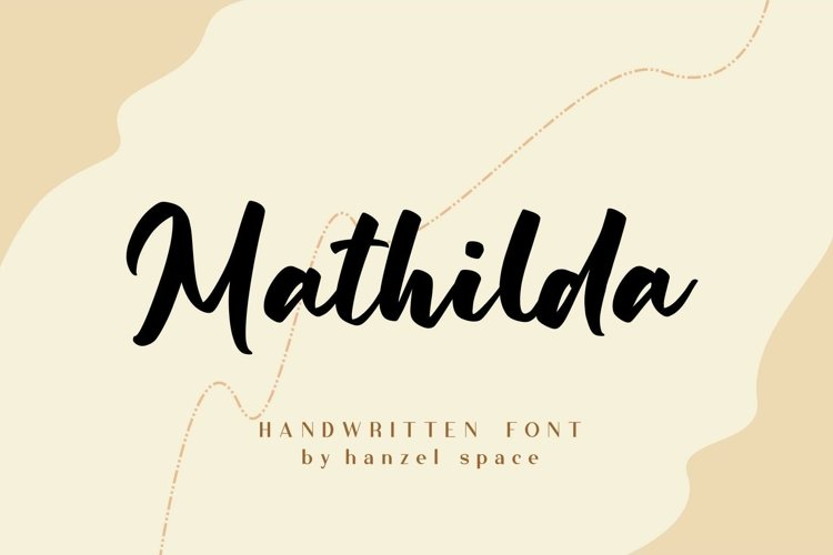 Mathilda | Handwritten Font example image 1