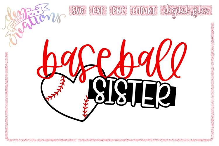 Baseball Sister - SVG DXF PNG Cut File example image 1