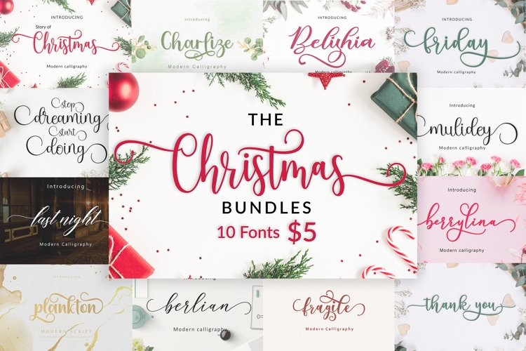 The Christmas Bundles 10 Fonts For $5