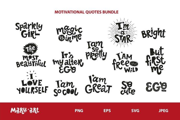 Motivational quotes SVG bundle