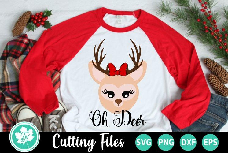 Christmas SVG   Reindeer SVG   Oh Deer SVG example image 1