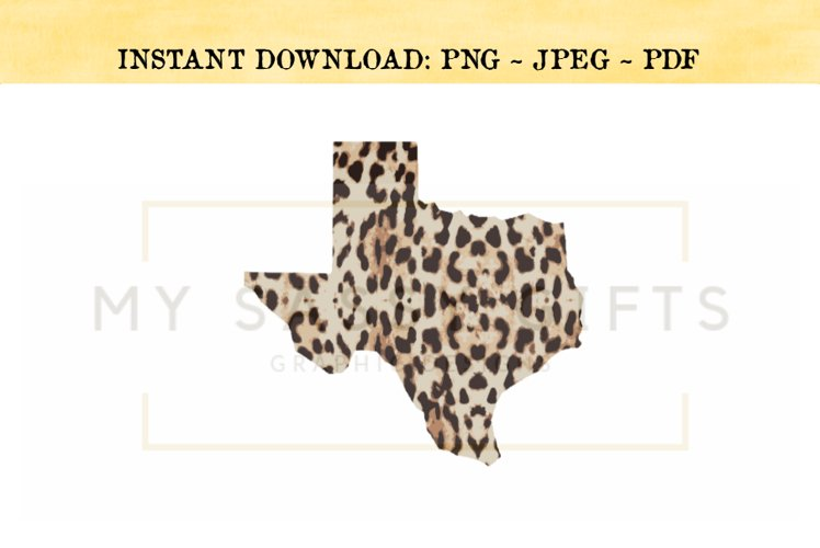 Texas State Leopard Print and Southwestern PNG example image 1