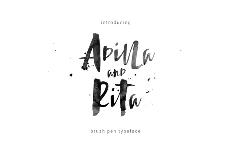 Adilla and Rita Typeface example image 1