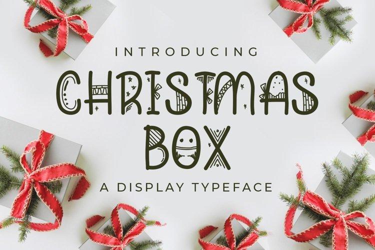 Web Font Christmas Box example image 1