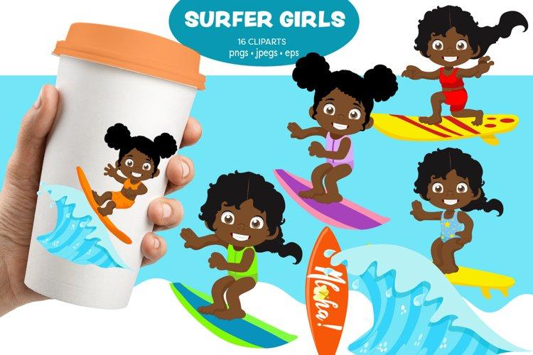 African American Kids, Surfing kids, Sportive kids