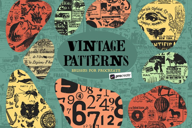 Vintage Pattern Procreate Brushes