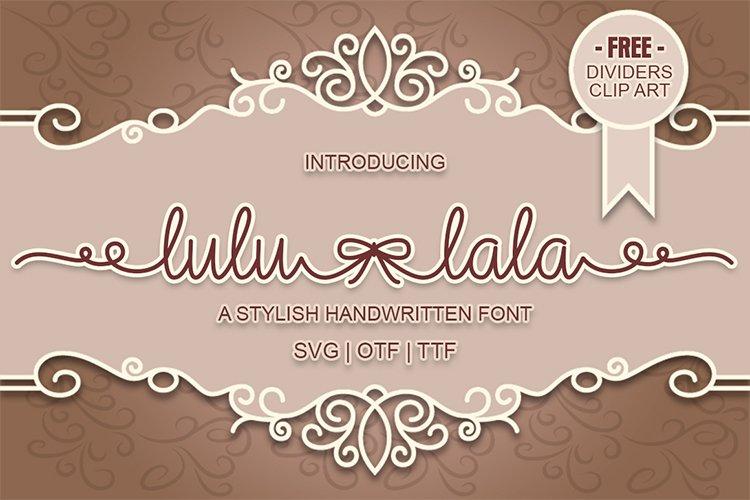 Lulu-Lala Handwritten Font example image 1
