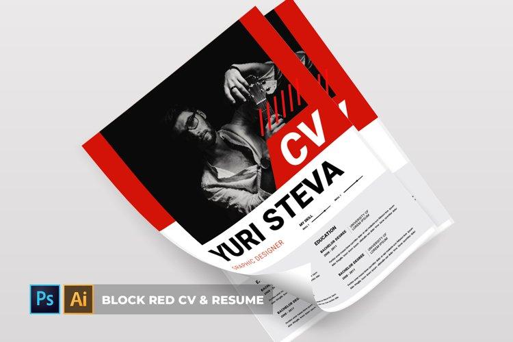 Block Red | CV & Resume example image 1