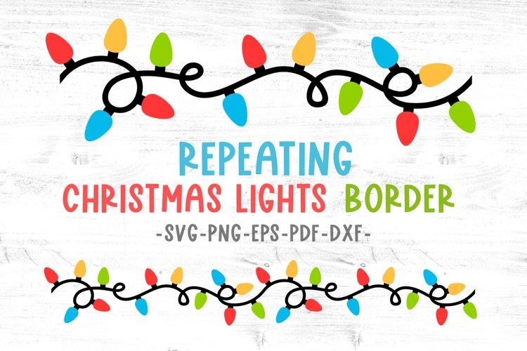 Christmas lights svg Christmas border svg Decals svg files example image 1