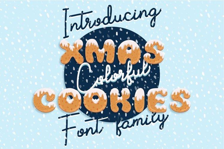 Xmas cartoon cookie font family example image 1