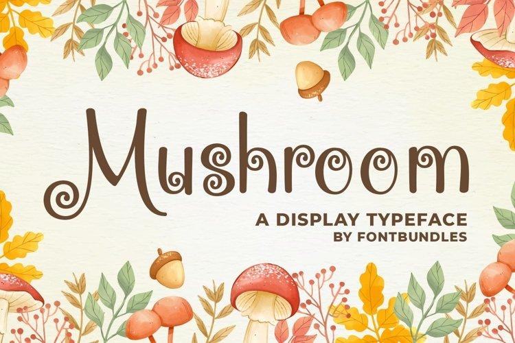 Web Font Mushroom example image 1