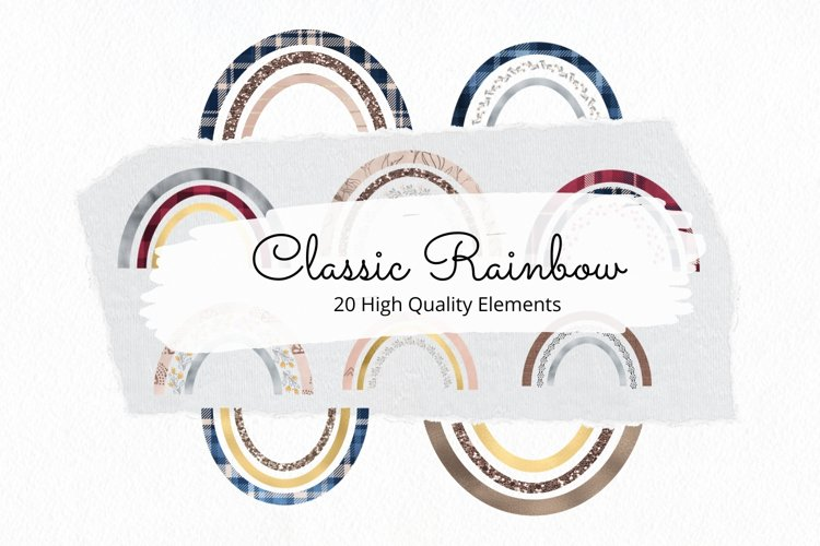 Classic Colorful Rainbow Cliparts for Sublimation